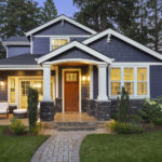 a home with a new exterior paint job from painting company, Exterior Residential Painting