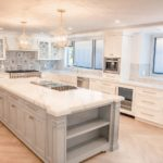 beautiful kitchen with white paint and accent colors, Interior Residential Painting
